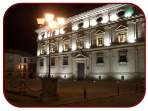 vistas nocturnas del Ayuntamiento de Ubeda