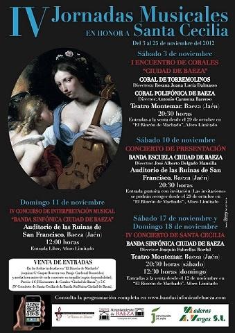 Cartel de las IV Jornadas Musicales en honor a Santa Cecilia