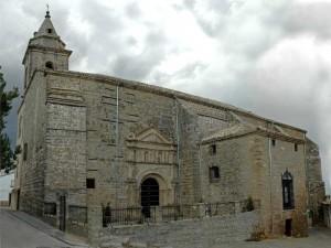 Fachada de la Iglesia de Santa Maria en SAbiote