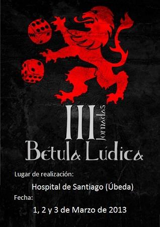 CARTEL DE III JORNADAS BETULA LUDICA
