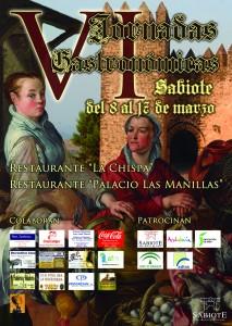 Cartel del Jornadas Gastronomicas en Sabiote 2013