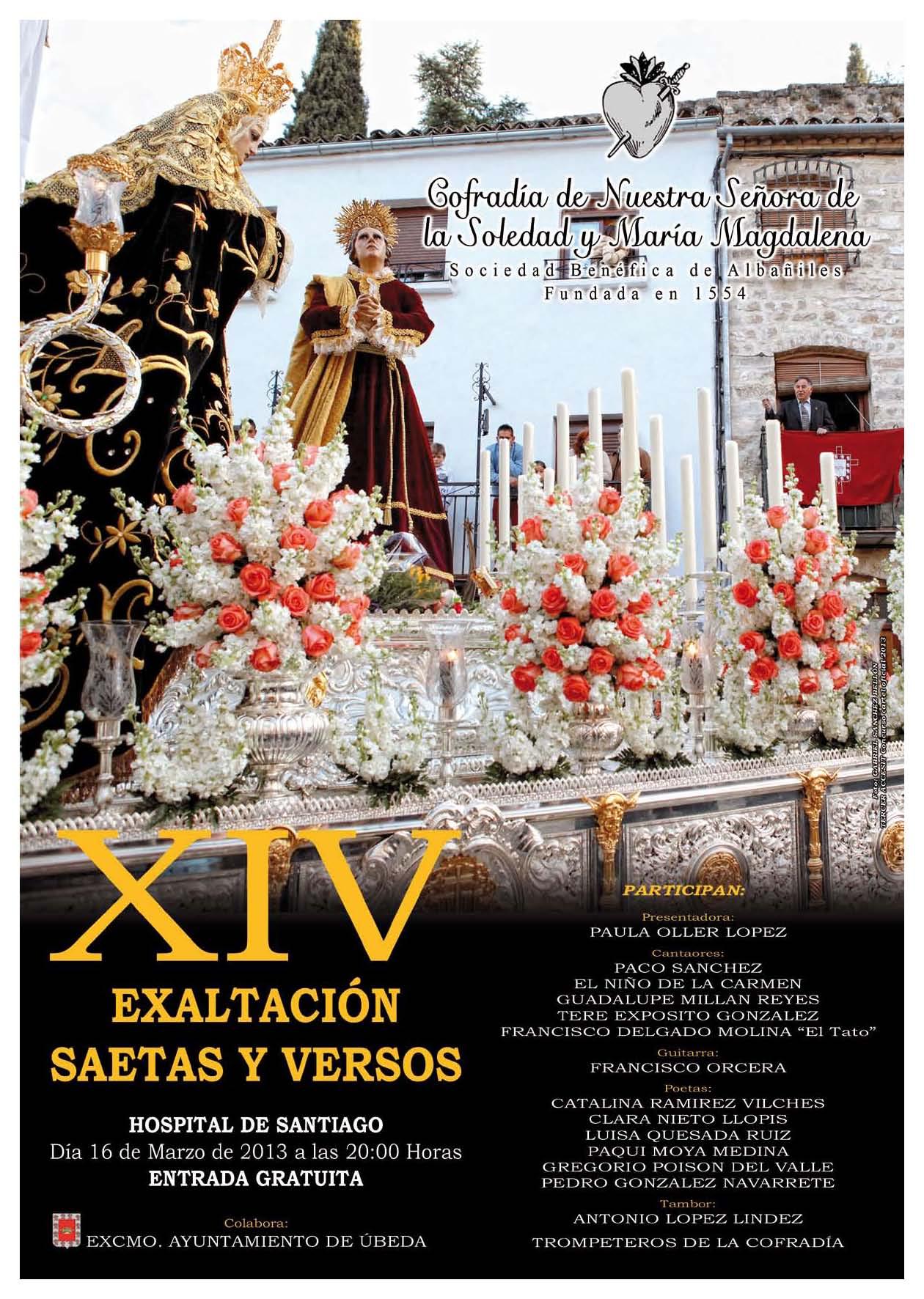 Cartel de la Exaltación de Saetas y versos 2013
