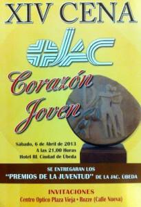 Cartel de la Cena Corazón Joven JAC 2013