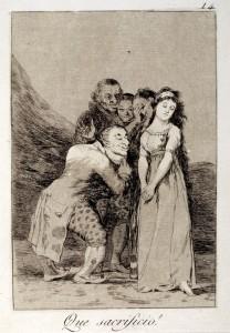 que sacrificio 02 208x300 - Goya y sus Caprichos en Torreperogil