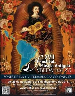 cartel 2013 - XVII FESTIVAL DE MÚSICA DE ÚBEDA Y BAEZA