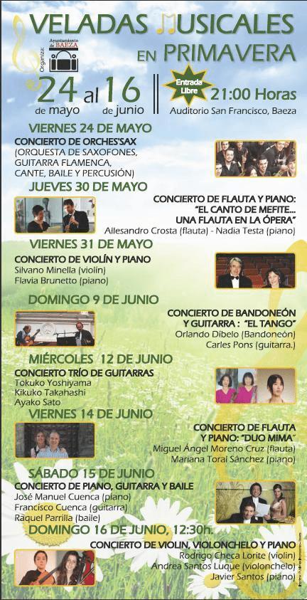 Cartel anunciador de las III Veladas Musicales en primavera