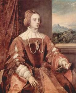Esposa de Carlos I- indumentaria