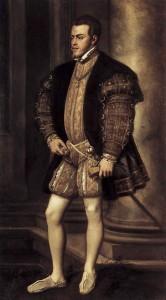 tiziano vecellio felipe ii 1554 galerc3ada palatina palacio pitti florencia 166x300 - Indumentaria y vida en el siglo XVI