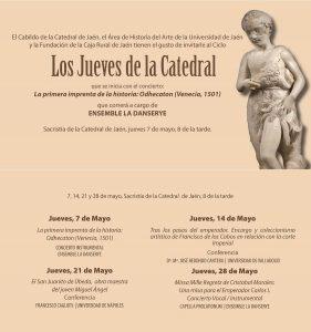"""Los Jueves de la Catedral 281x300 - CONFERENCIAS: """"Los Jueves de la Catedral""""."""