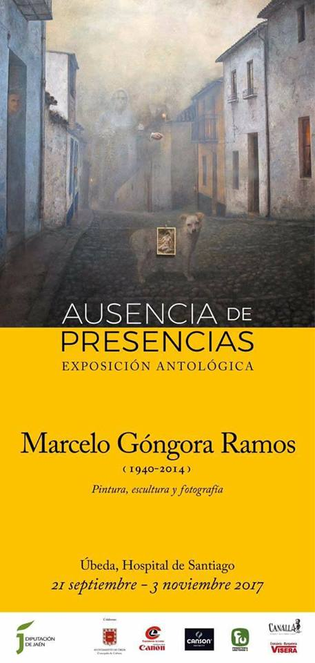 Cartel de exposición de Marcelo Góngora